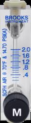 Brooks 2001 variable area flow meter