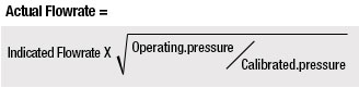 Pressure Effects Correction Calculation